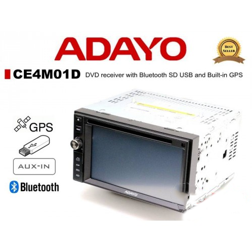 Adayo CE4M01D DVD receiver with Bluetooth and GPS (Support i-Go & Sygic Map)