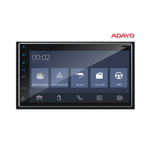 "Adayo RM4Z24 6.75"" Bluetooth Digital Media Receiver Apple CarPlay Android Auto"