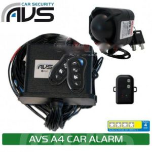 AVS Car Alarm 4 Stars A4 w/ Immobilisers - DEAL
