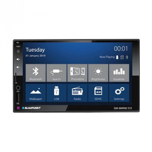 "Blaupunkt San Marino 510 7"" Bluetooth / USB / PhoneLink / Support FHD"
