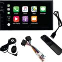 PROTECH WCP700 Double Din Wireless CarPlay & Android Auto 7 Inch Touch Screen Bluetooth AM/FM Car Multimedia Stereo